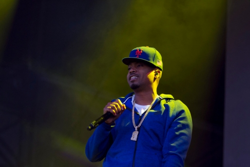 Nas performs at the Bay Area Vibez Festival at the Middle Harbor Shoreline Park, Sunday, Sept. 28, 2015. Photo by Erin Baldassari/East Bay Express.
